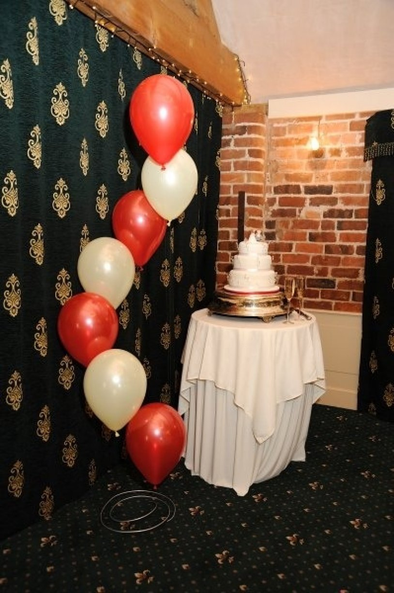 Table or floor mounted Spiral 7's can create a beautiful flowing celebratory atmosphere to any room.