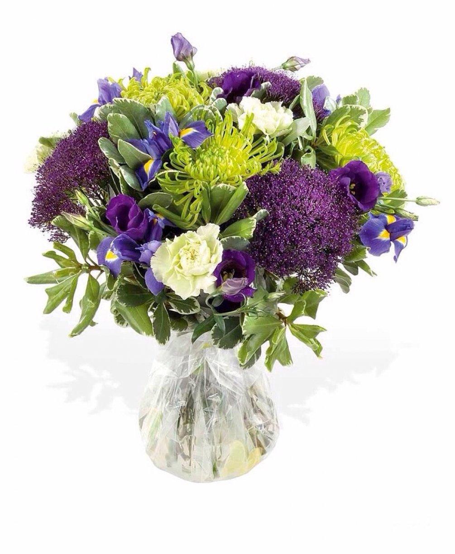 Beautifully chosen flowers arranged in water!