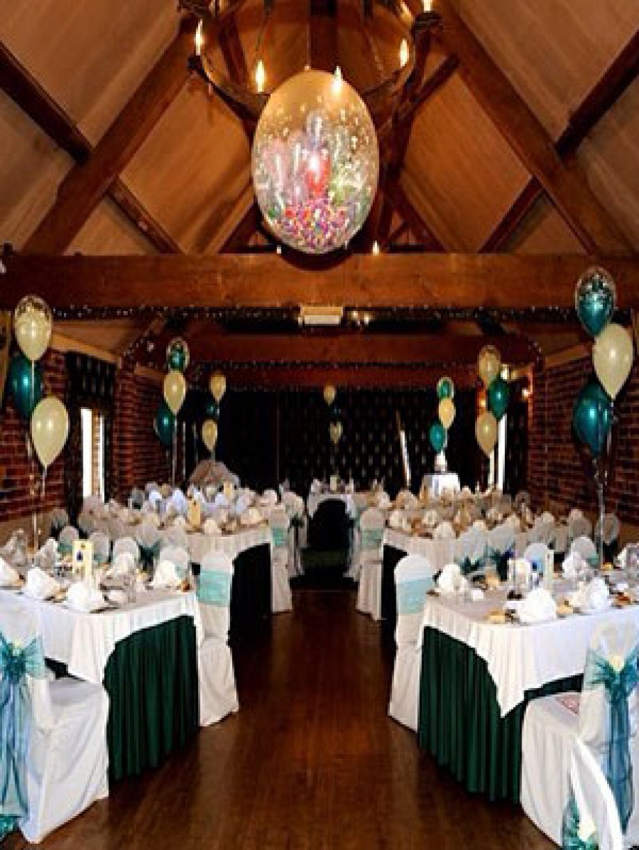 10 x Bq&#039;s of 3<br />2 x Entance 4&#039;s<br />1 x Cake table Foil 4&#039;s<br />1 x Exploding Balloon<br />1 x Champagne Bottle