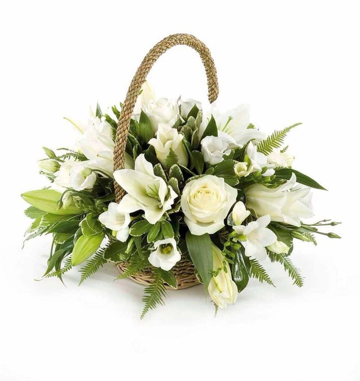 Your chosen flowers arranged in a beautiful hand held wicker basket!